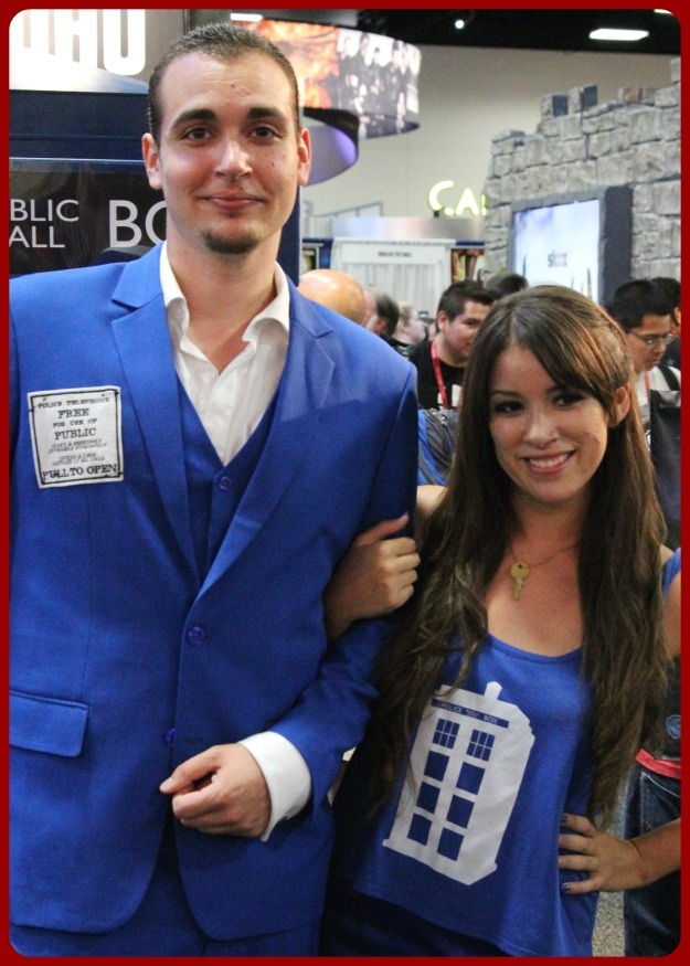 His and Hers Tardis Costume SDCC 2014