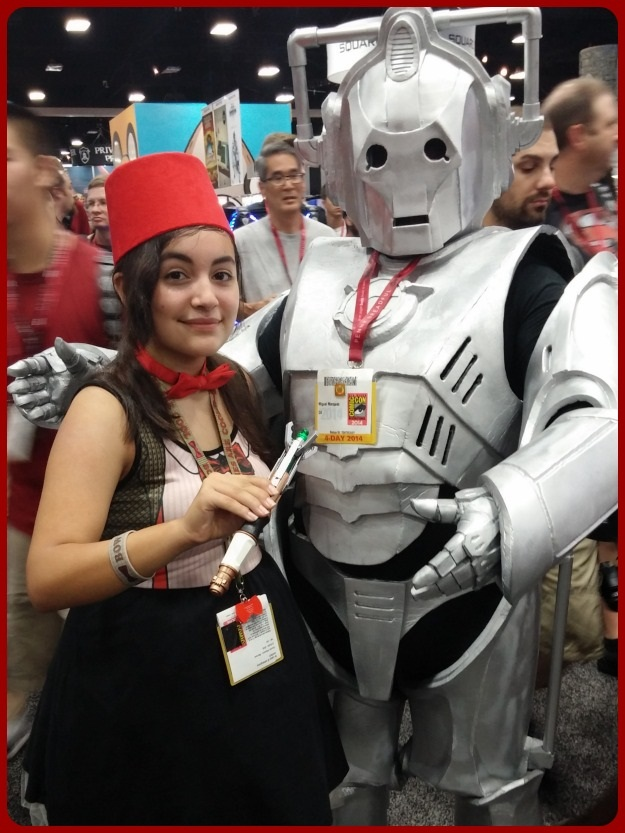 Doctor Who And Cyberman Costume SDCC