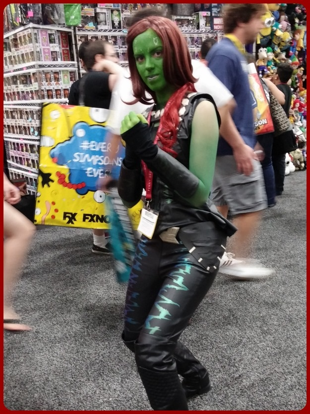 Guardians Gamora Cosplay SDCC 2014