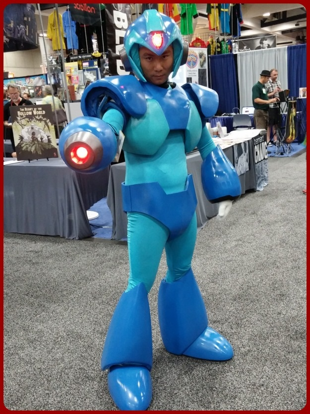 Mega Man Costume SDCC 2014