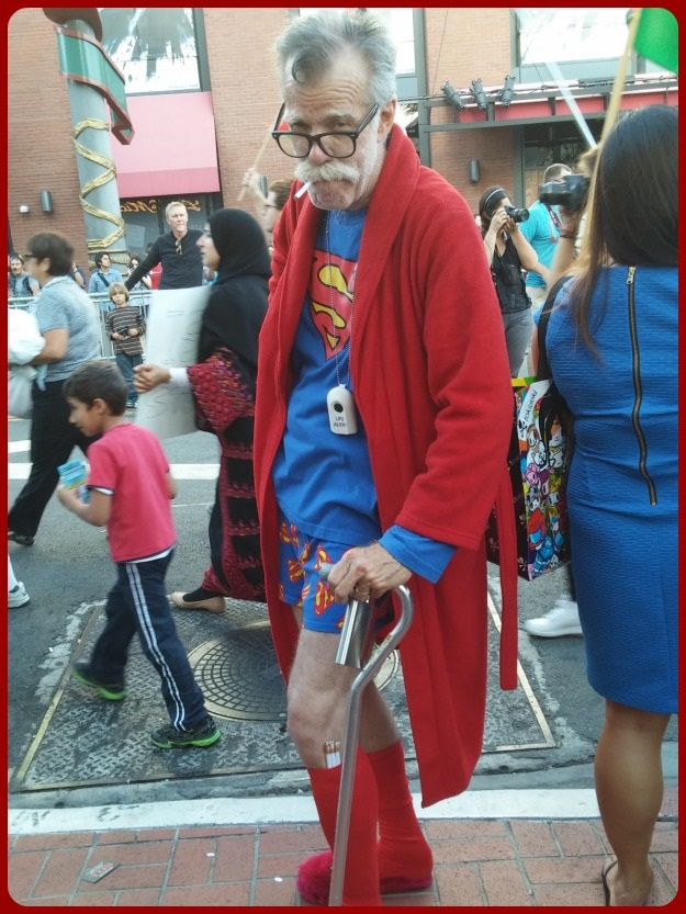 Elderly Superman Cosplay SDCC 2014