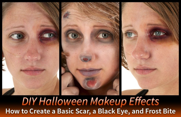 3 DIY Halloween Makeup Effects: Basic Scar, Black Eye, and Frost ...