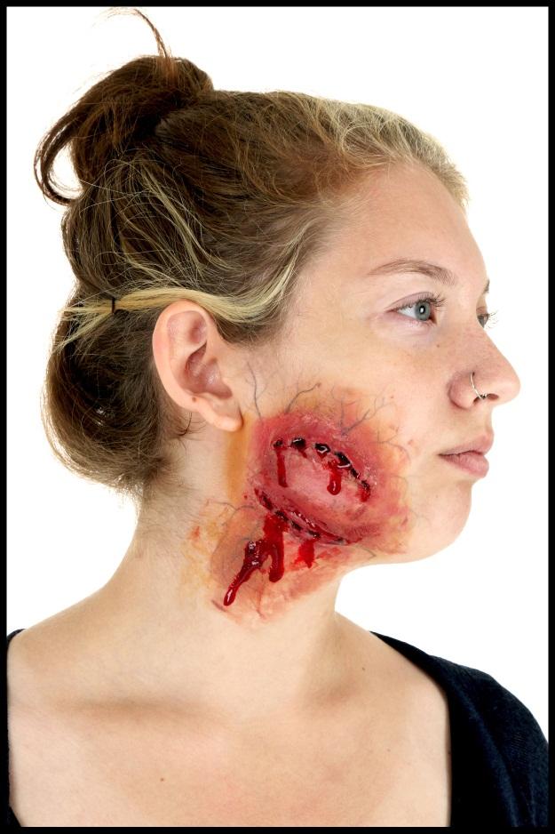 3 diy halloween makeup effects infected zombie bite burned skin zombie bite makeup diy solutioingenieria Gallery
