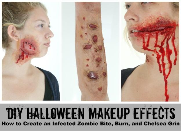 3 diy halloween makeup effects infected zombie bite burned skin 3 diy halloween makeup effects infected zombie bite burned skin and a chelsea grin halloween costumes blog solutioingenieria Images