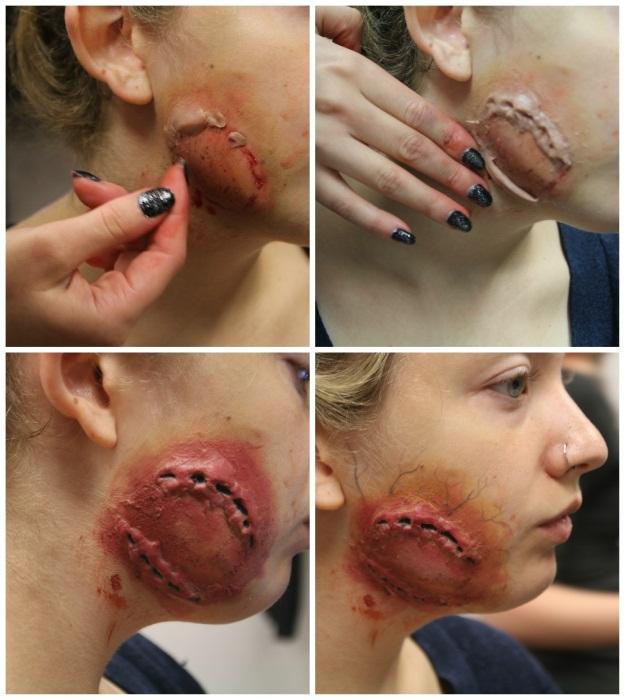 3 diy halloween makeup effects infected zombie bite burned skin zombie bite tutorial solutioingenieria Images