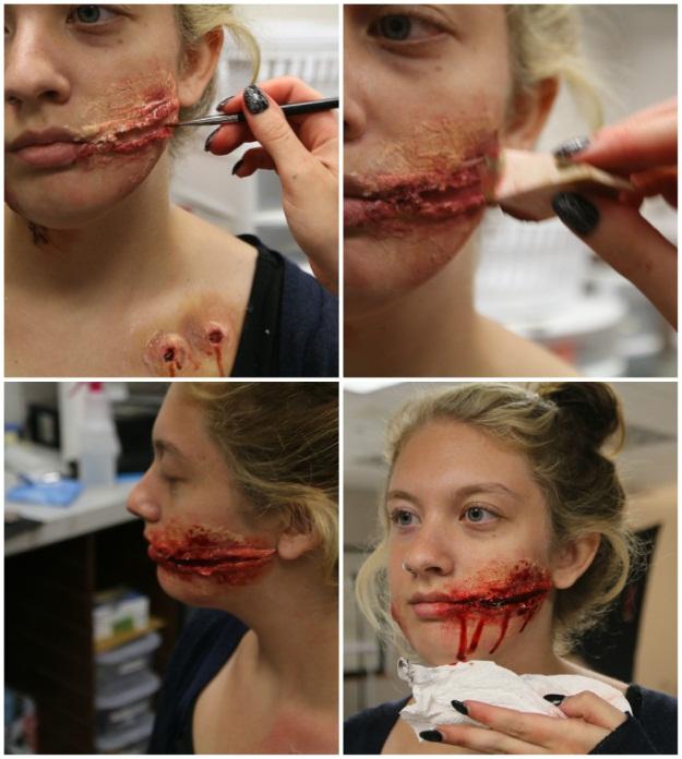 3 diy halloween makeup effects infected zombie bite burned skin chelsea grin makeup tutorial solutioingenieria Gallery