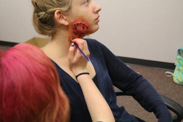 Gross Zombie Bite Makeup