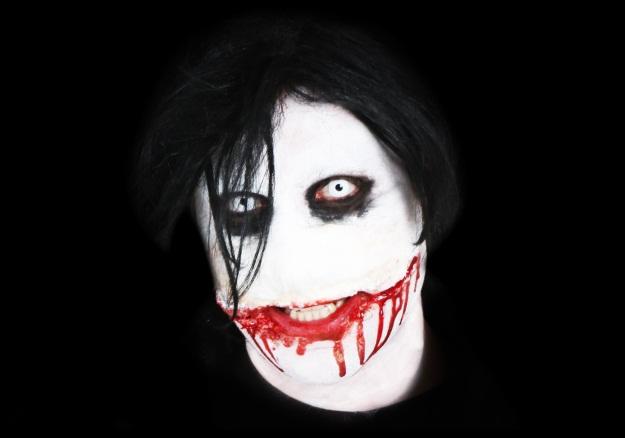 Jeff The Killer DIY Costume On Black