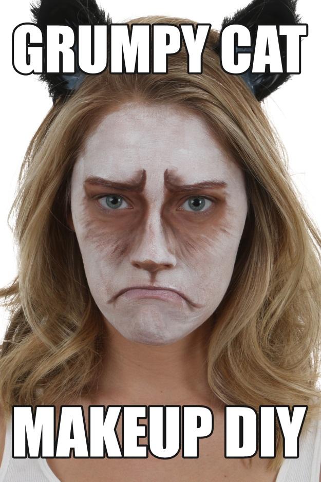 Grumpy Cat Makeup DIY