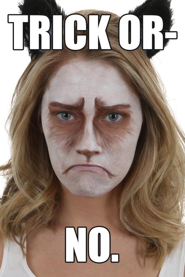Grumpy Cat Halloween Meme