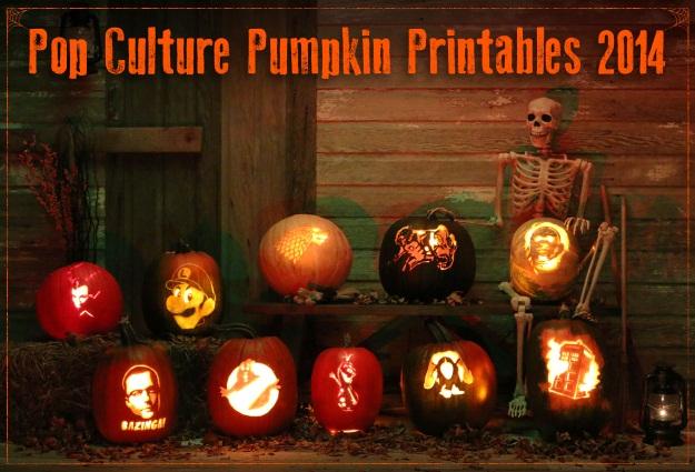 Pop culture pumpkin printables edition halloween costumes