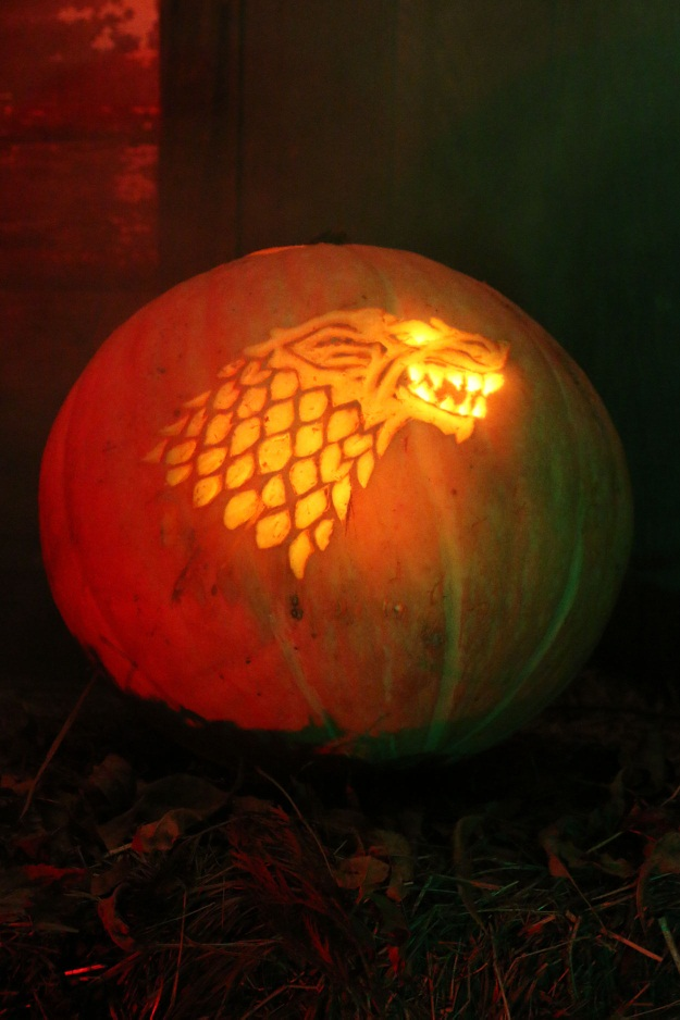 House Stark pumpkin pattern