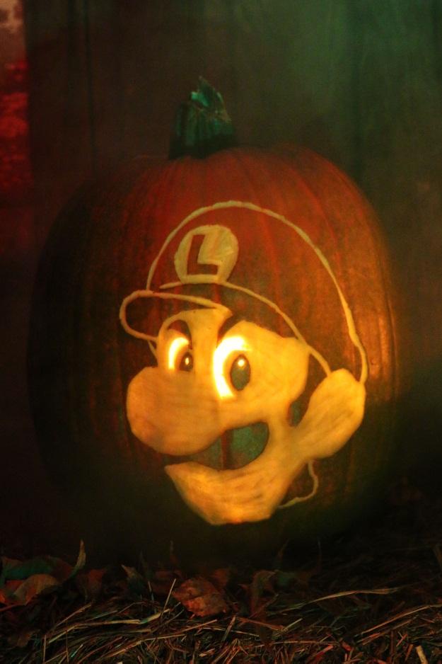Luigi Death Stare Pumpkin