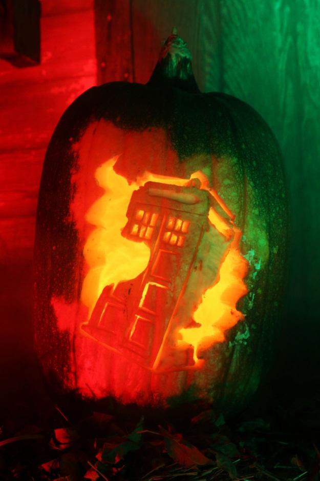 Doctor Who Tardis Pumpkin Pattern