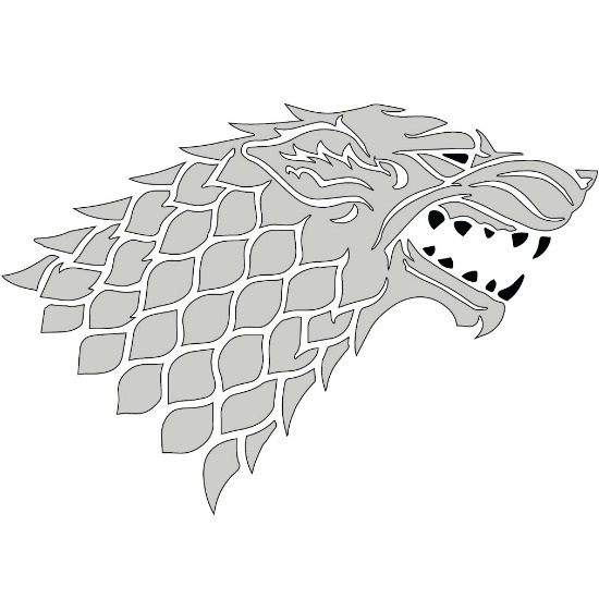 Hilaire image with game of thrones stencil printable