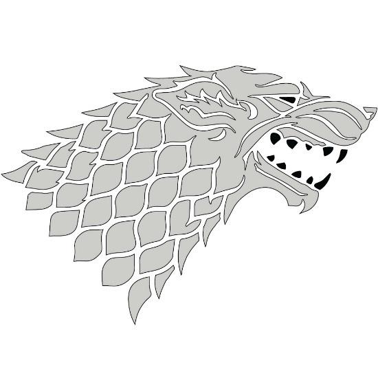 Game of Thrones House Stark pumpkin