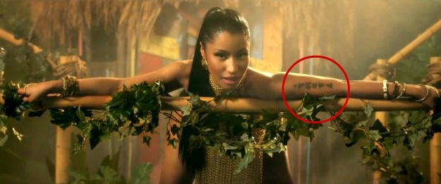 Nicki Minaj Tattoos