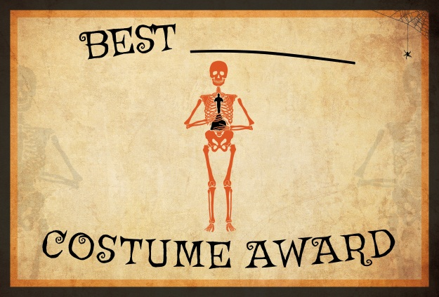Printable Halloween Costume Award