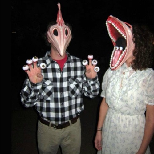 Scary Beetlejuice couples costume