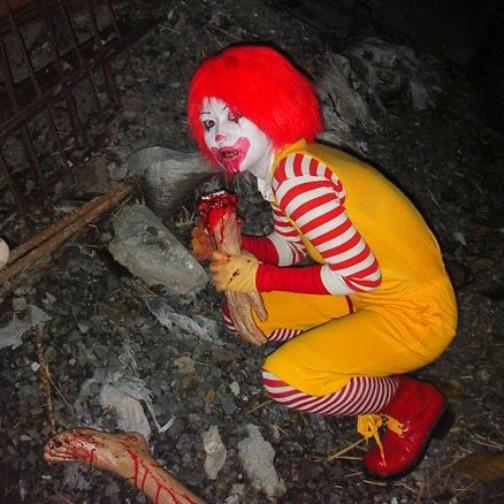 wtf zombie ronald mcdonald costume