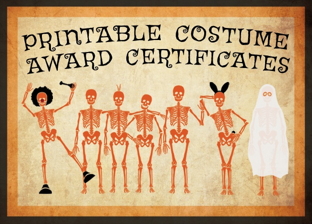 10 free costume award certificates printables halloween printable costume award certificates yelopaper Images