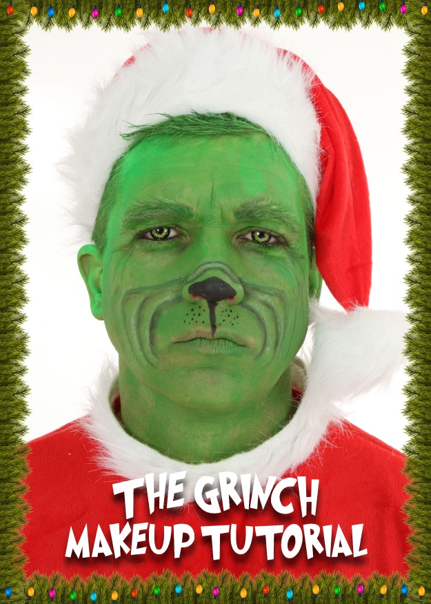 The Grinch Makeup Tutorial A Christmas DIY