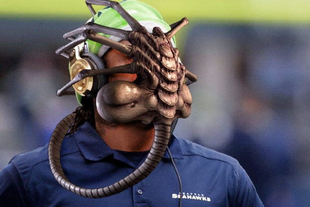 Marshawn Lynch Face Hugger Alien
