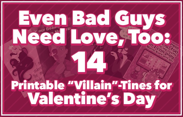 14 VillainTines for Valentines Day Printable  Halloween