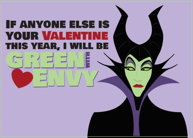 Maleficent Valentines Card