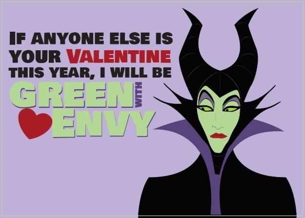Maleficent Valentines Card