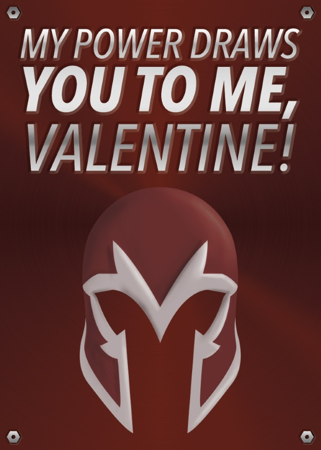 Magneto Valentines Day Card