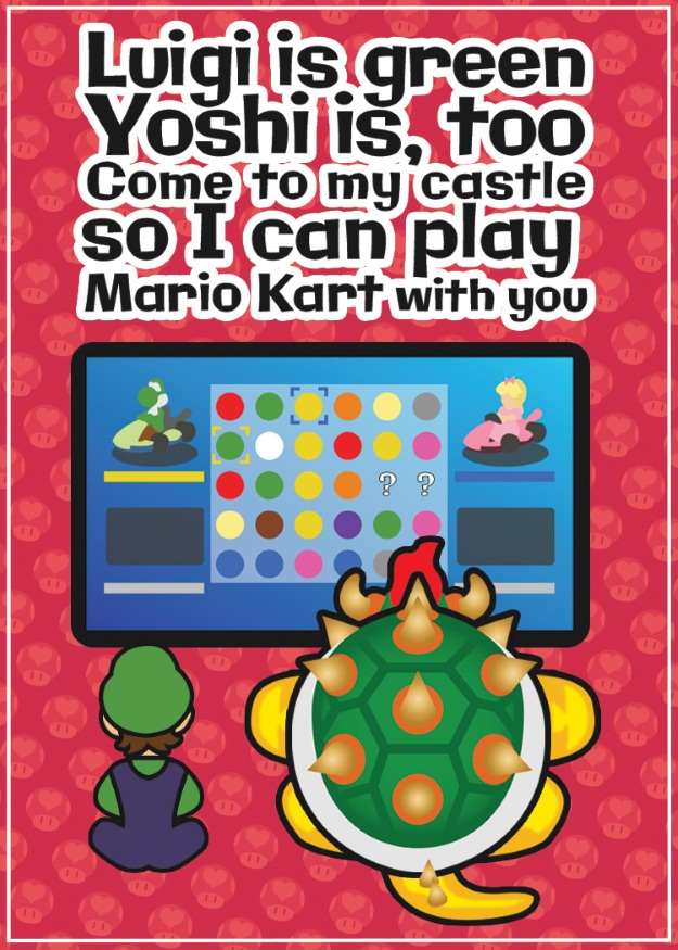 Bowser Valentine Card