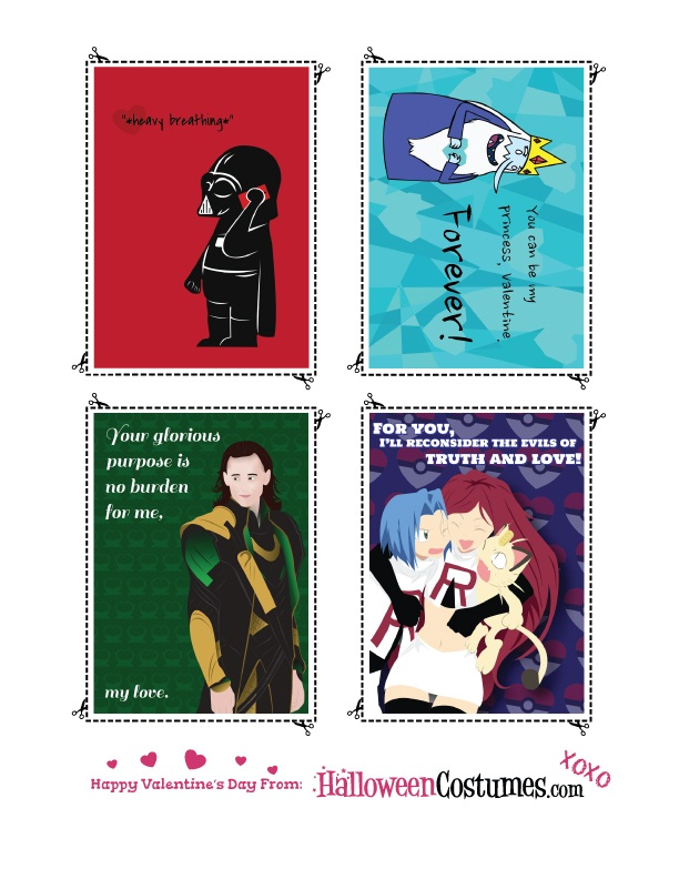 Printable Valentines Sheet Three