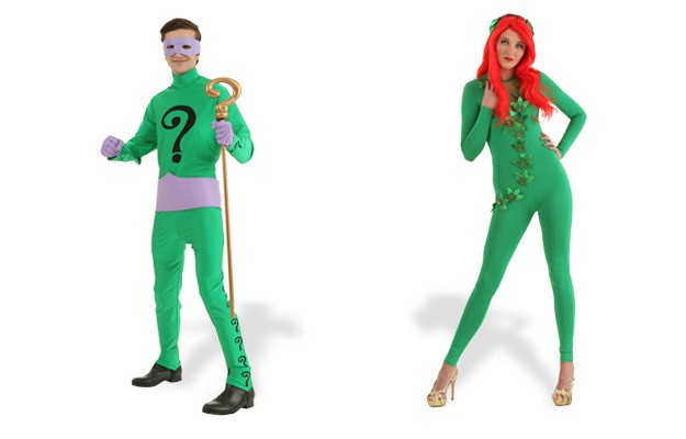 green costumes collage 4