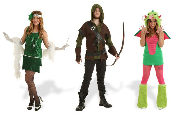 green costumes collage 7