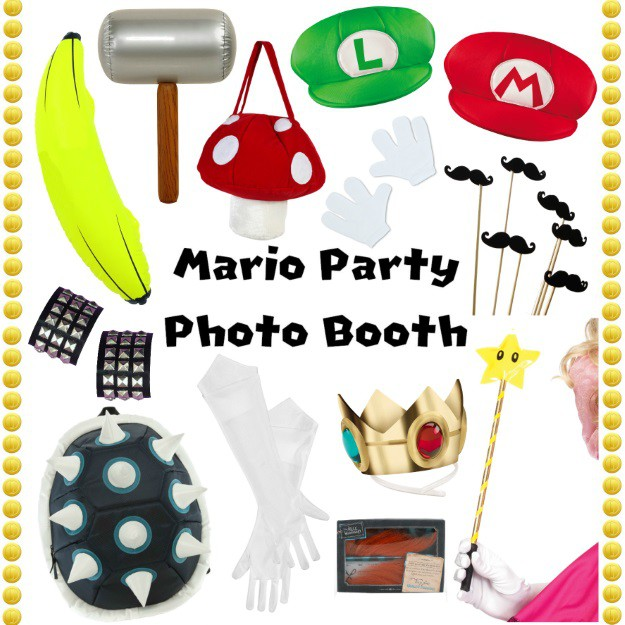 Mario Themed Photo Booth Accessories