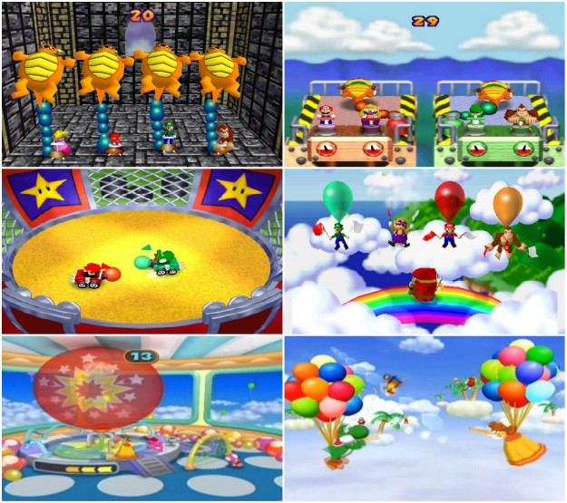 Mario Party Mini Games with Balloons
