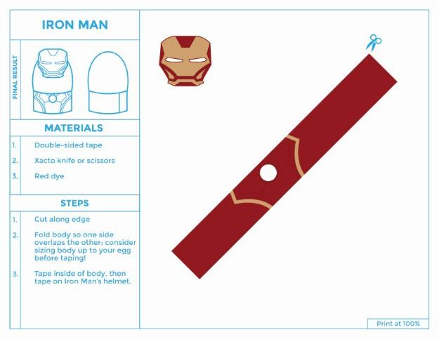 Iron Man Costume for Easter Eggs