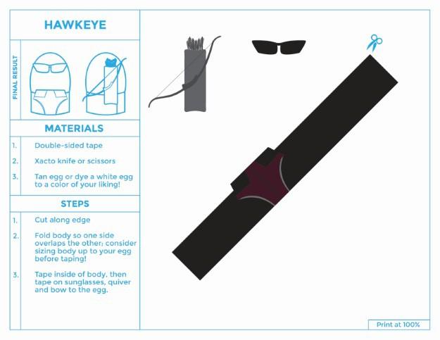 Hawkeye Printable Easter Egg Costume