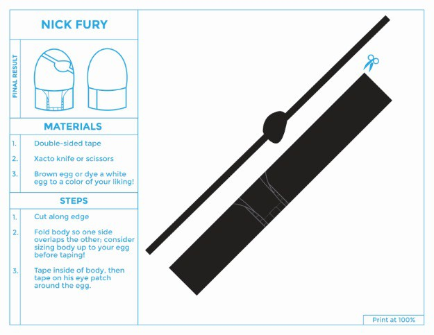 Printable Easter Egg Costume for Nick Fury