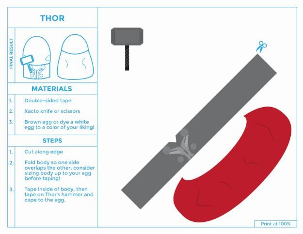 Printable Thor Easter Egg Costume