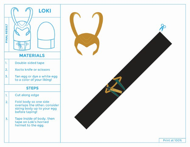 Printable Loki Easter Egg Costume