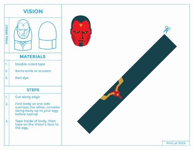 Printable Vision Easter Egg Costume