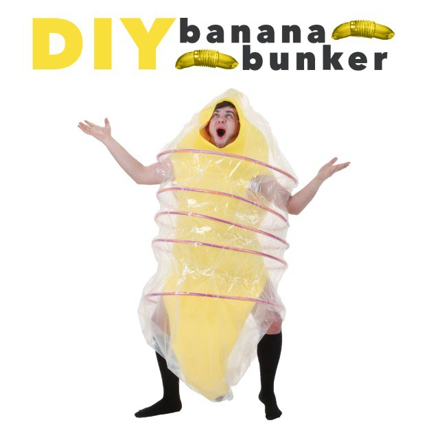 DIY Banana Bunker Halloween Costume