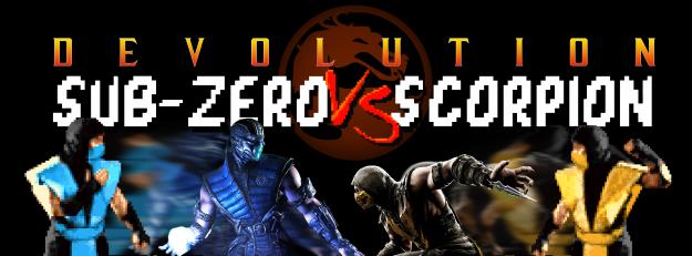 Mortal Kombat X Infographic Header Scorpion Sub-Zero