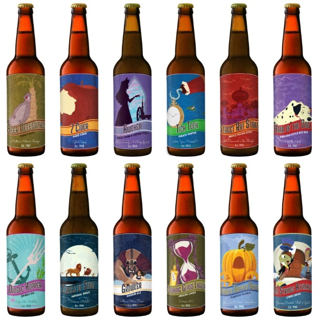 photo about Printable Beer Labels named 12 Disney Beer Labels [Printables] - Halloween Costumes Site