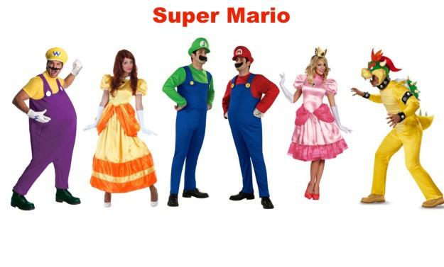 Mario Group Halloween Costumes