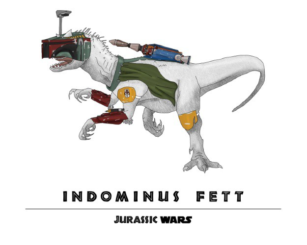 Jurassic Wars Indominus Fett