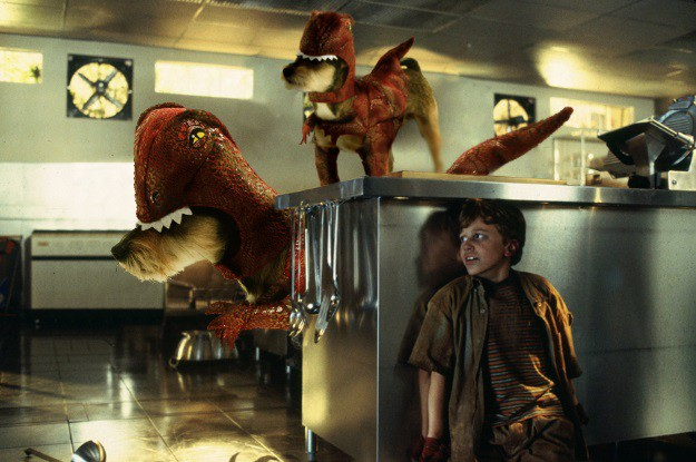 Jurassic Pup Raptor Kitchen Scene