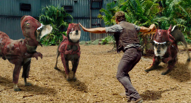 Jurassic Pup Raptor Training Scene